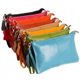 HMILY MINI women messenger bag genuine leather chain strap day clutches small Shoulder Crossbody handy wallet ladies Handbag